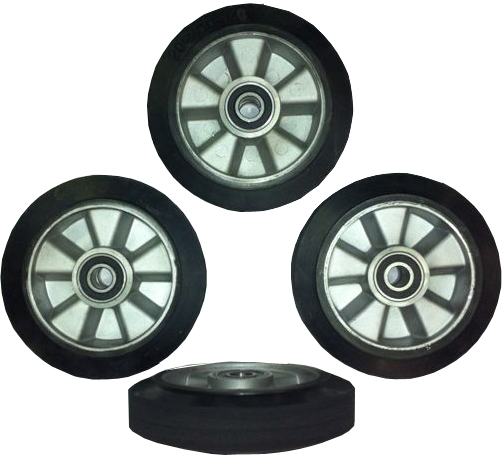 hard rubber studio wheels