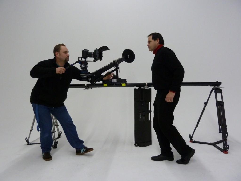 Der Ejib im Einsatz auf dem Twin Dolly Slider - beweglich wie mit einer Steadycam