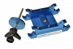 Twin Slider Base - zur mittigen Aufnahme der 0,80m Schiene auf Dolly oder Stativ über 150mm Schale