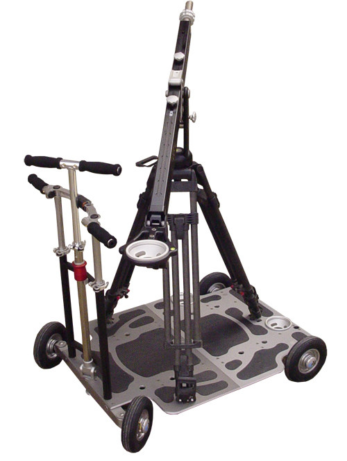 The EJib ontop of the LapTop Dolly - best and safest tripod jib mount on any dolly surface