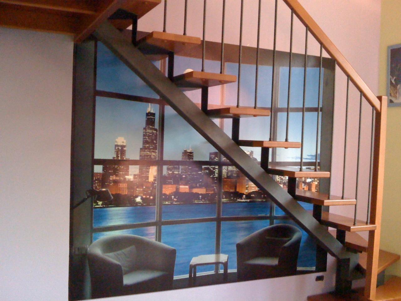 Stampa di una finestra finta applicata direttamente su muro