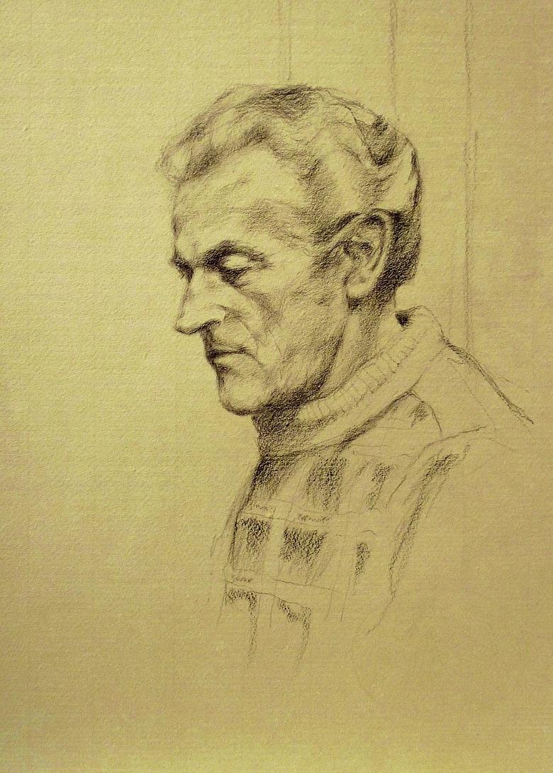 Portrait drawing, pencil/paper