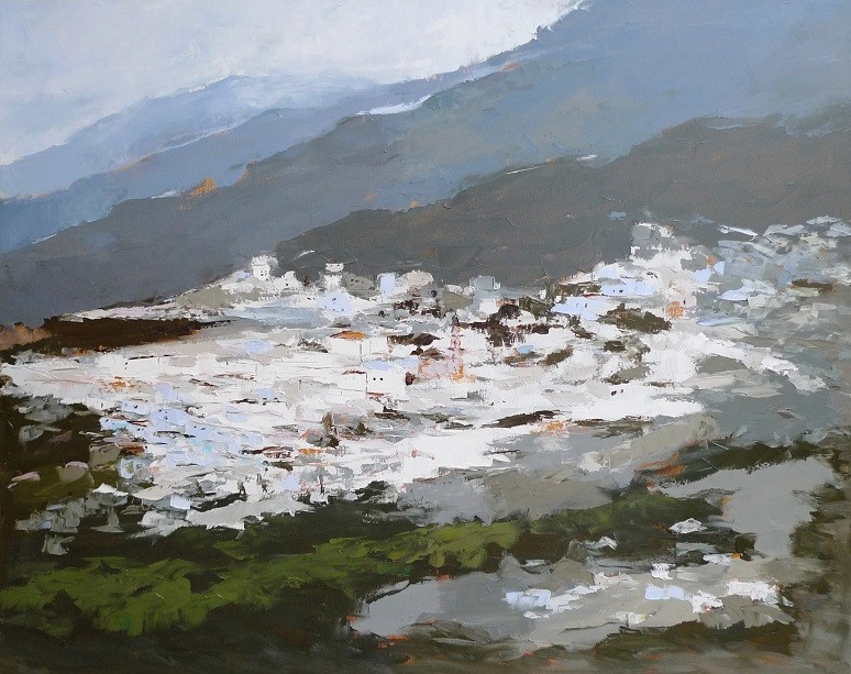 Andalucia landscapes collection, oil/cv