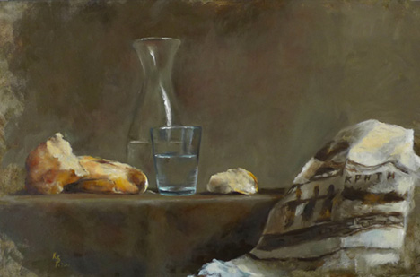 Bread and water, oil/cv