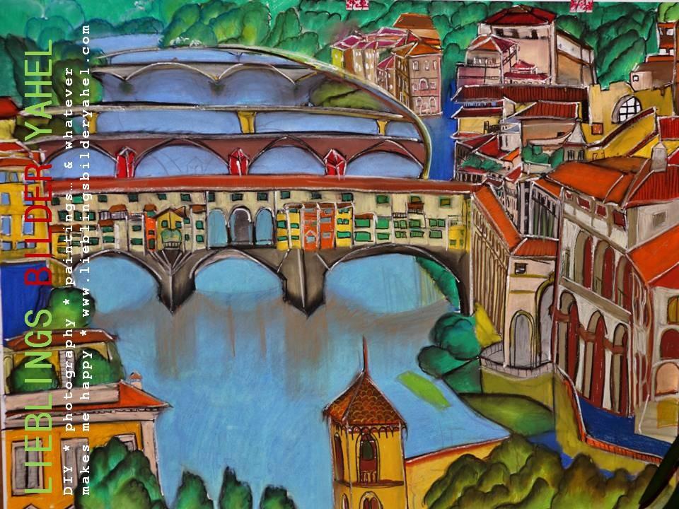 Florenz, Pastellkreide auf Papier, 70x100cm, Mindestgebot 134,00€