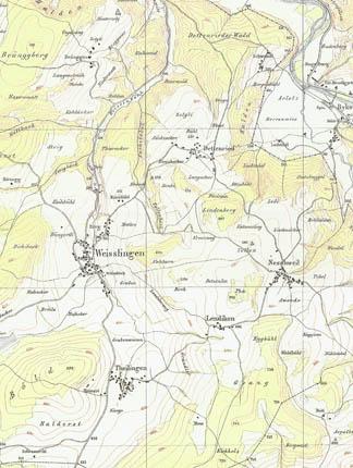 Wild-Karte Weisslingen West