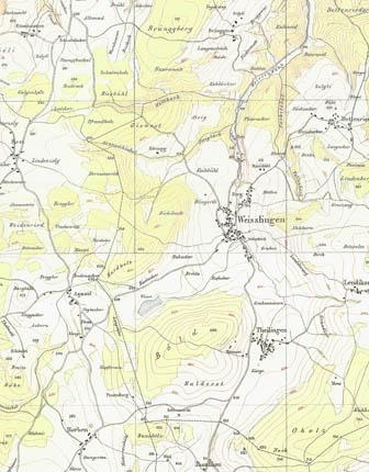 Wild-Karte Weisslingen Zentrum