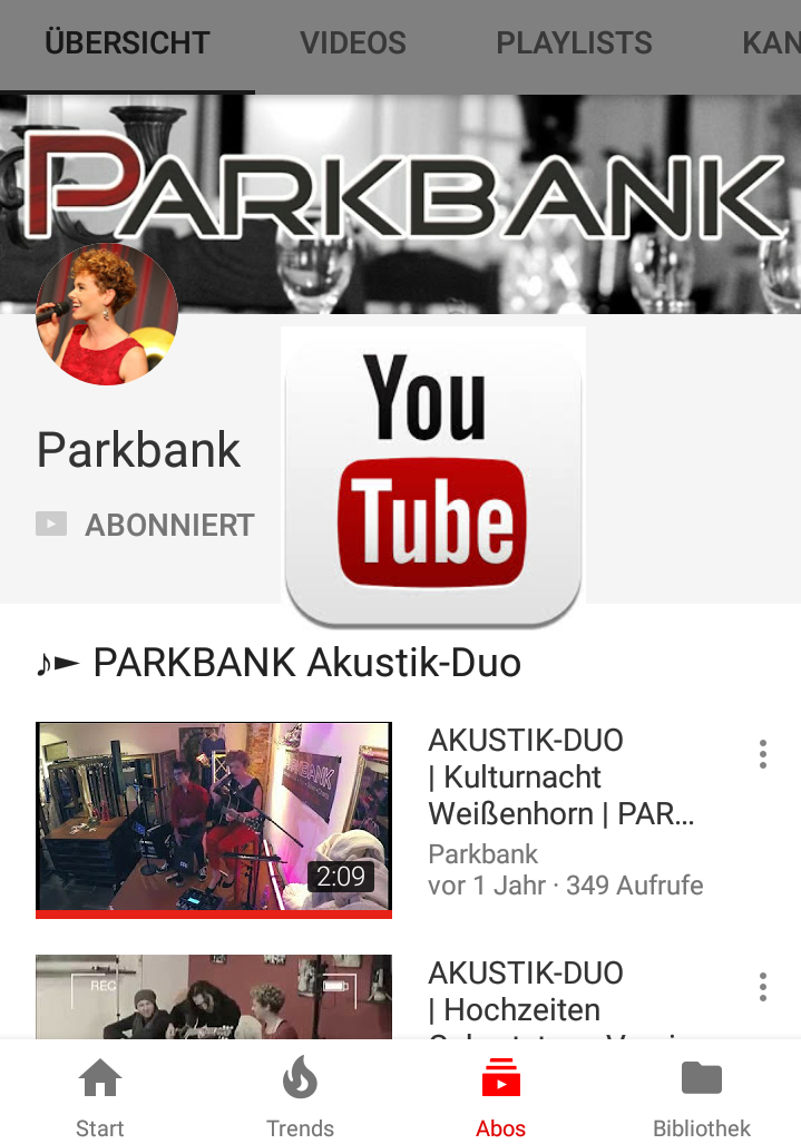 Screenshot unseres YouTube-Kanals