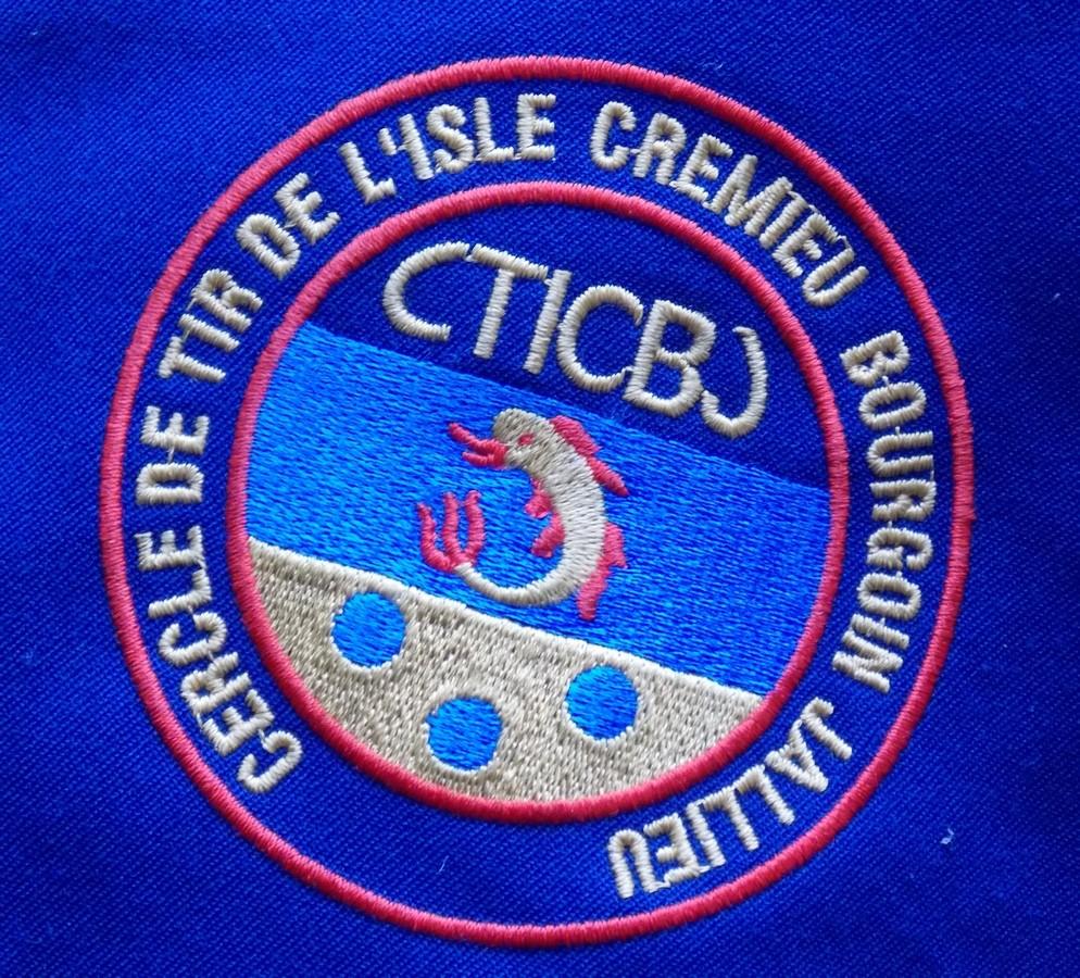 écusson du Cercle de Tir de l'Isle Crémieu Bourgoin Jallieu C.T.I.C.B.J.