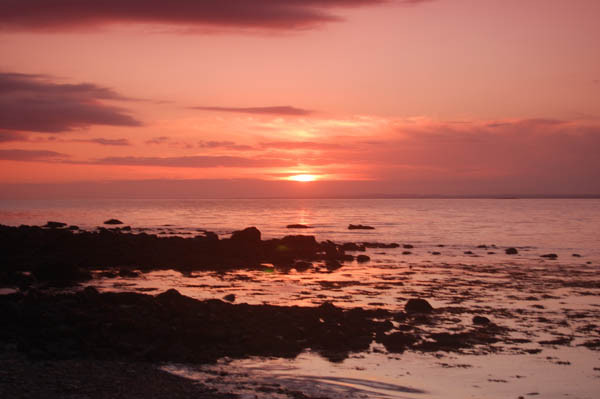 Sunset over Galway Bay from Ballyvaughan