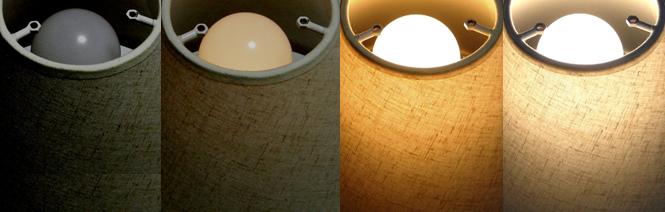 3段階に調光できるコードレスライト