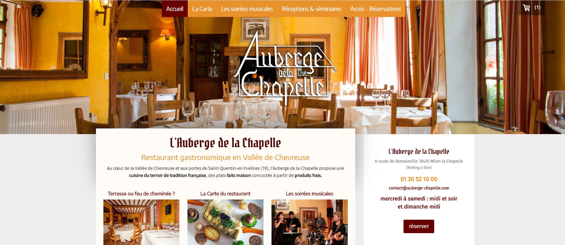 Restaurant gastronomique avec terrasse L'Auberge de la Chapelle (78)