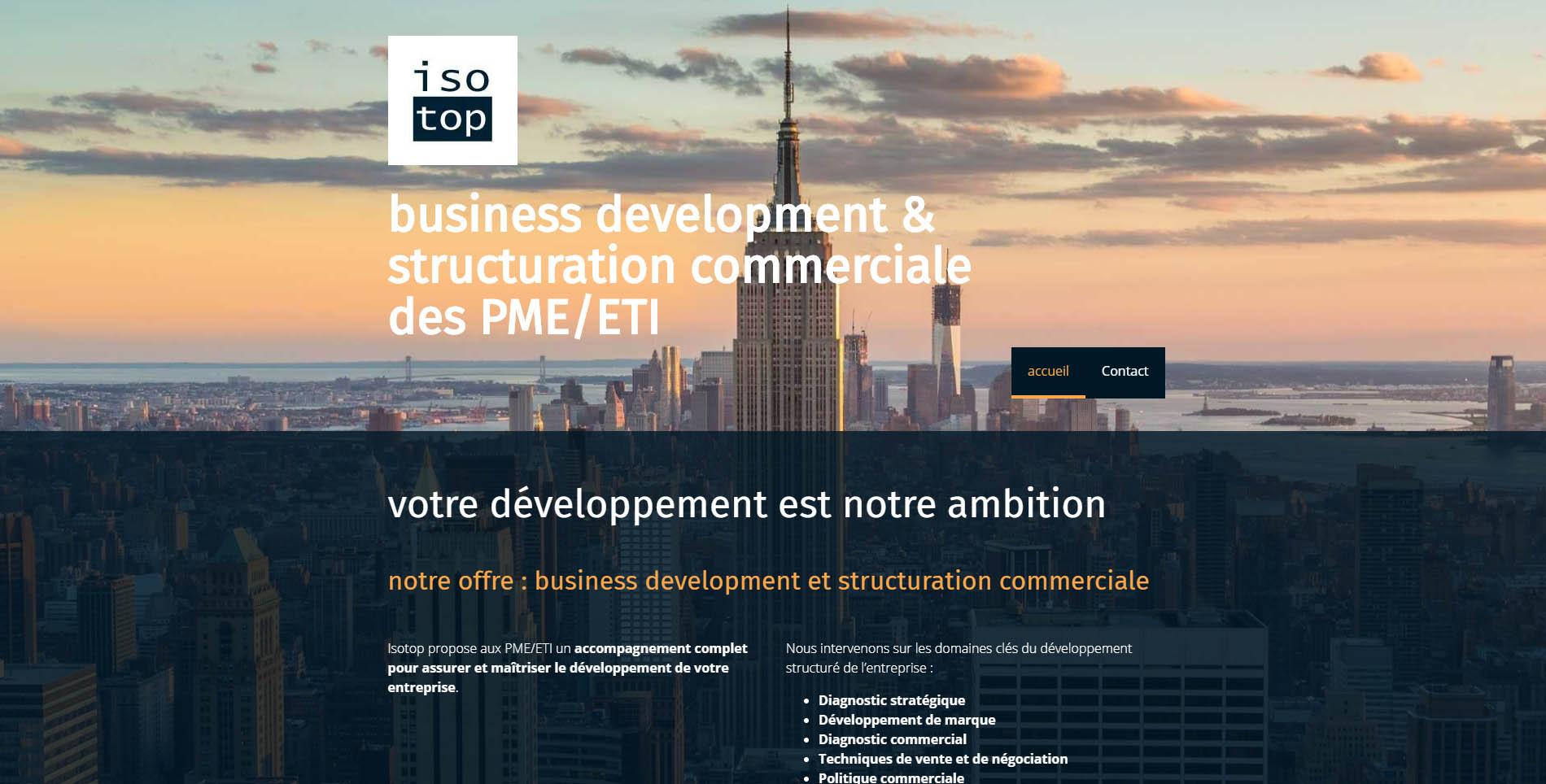 Isotop Business development et structuration commerciale   isotop.dev