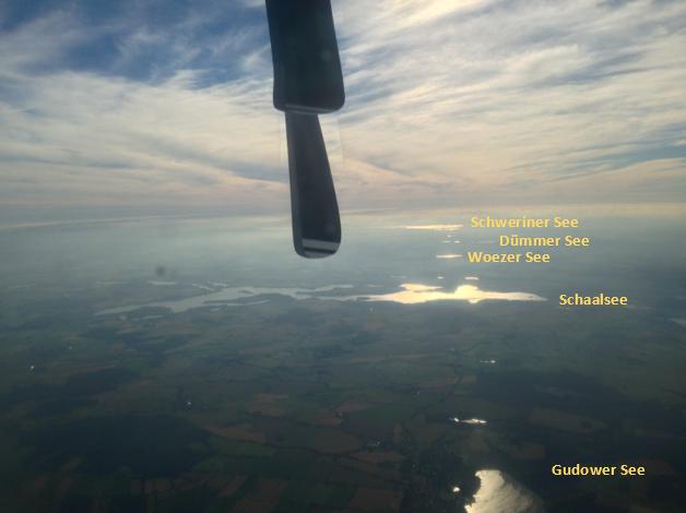 Beginn der Mecklenburger Seenplatte, vom Schaalsee bis zum Schweerinr See