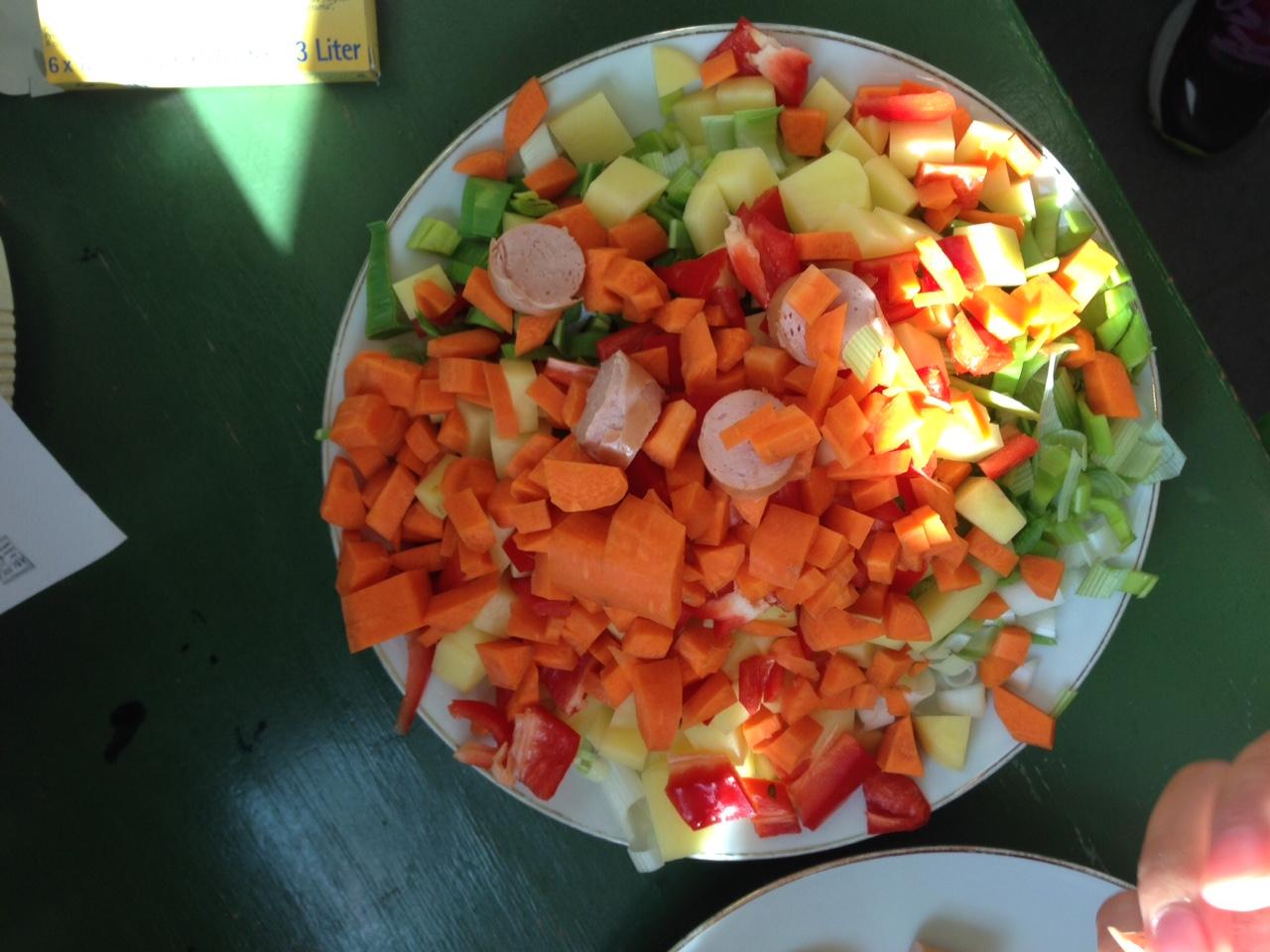 Zutaten für die Gemüsesuppe. Lecker!