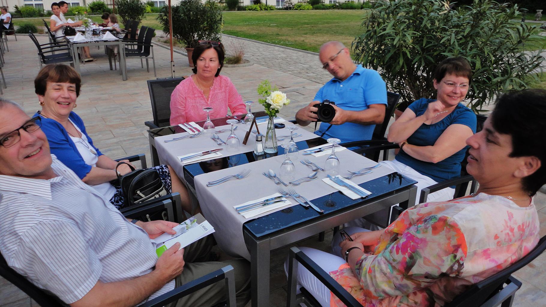 Abendessen im Hotel Lindner