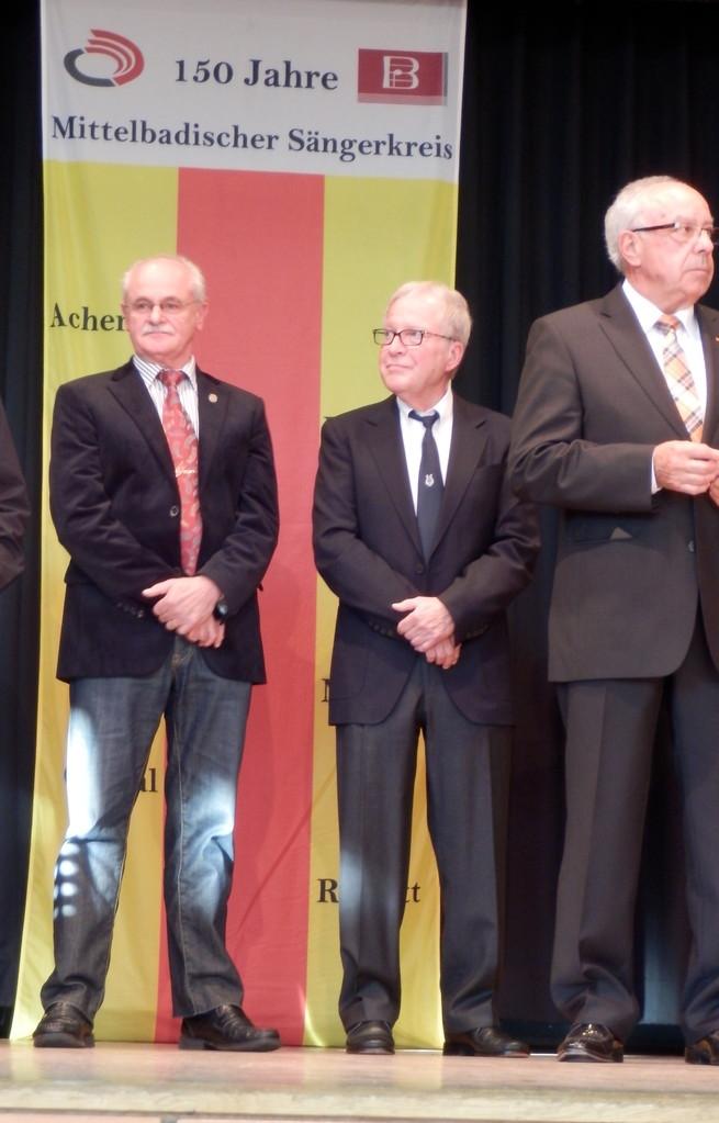 Ehrung für 25 Jahre Mitgliedschaft: Gerd Schulz und Dr. Klaus Ullrich
