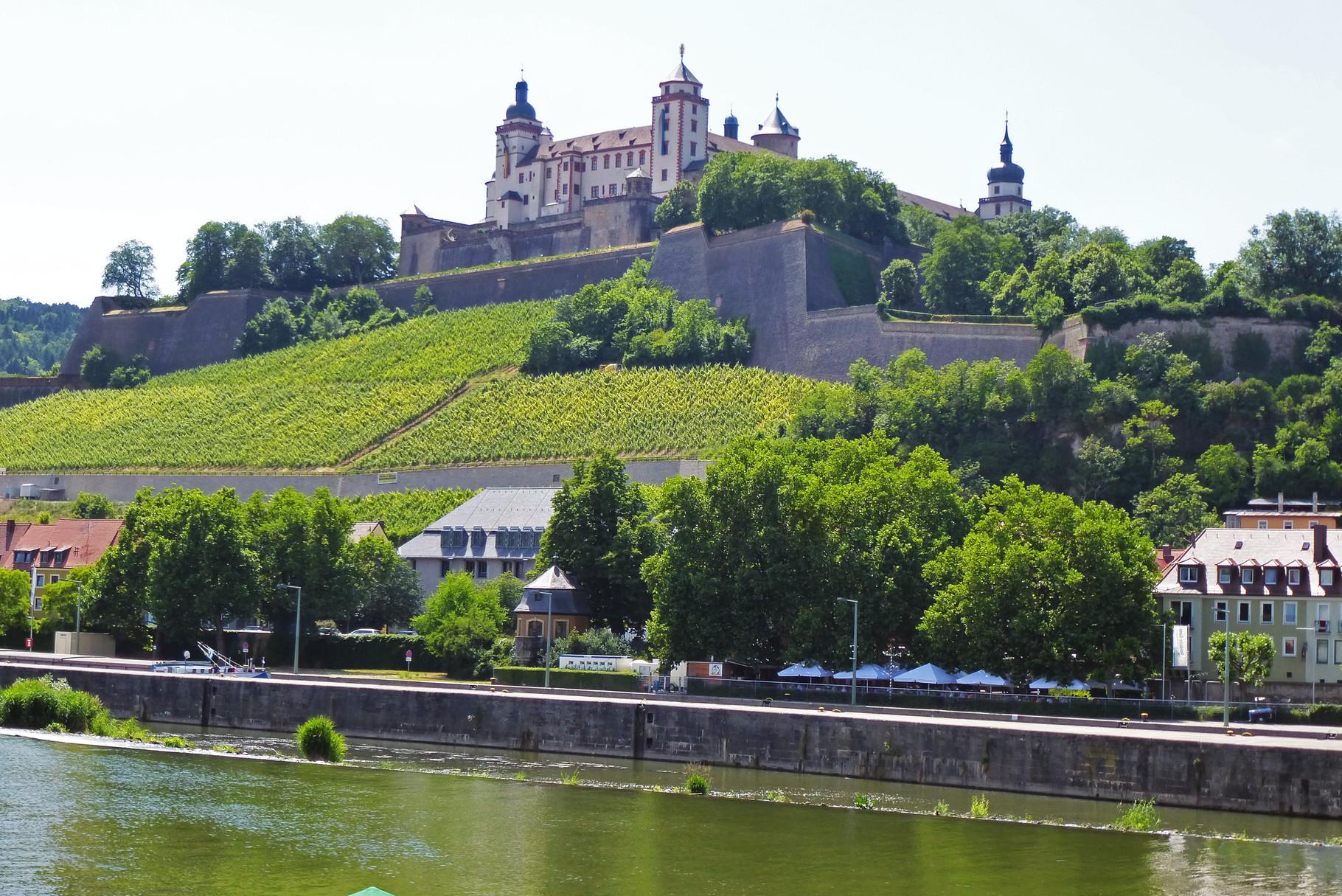 Mainufer mit Blick auf die Festung Marienberg