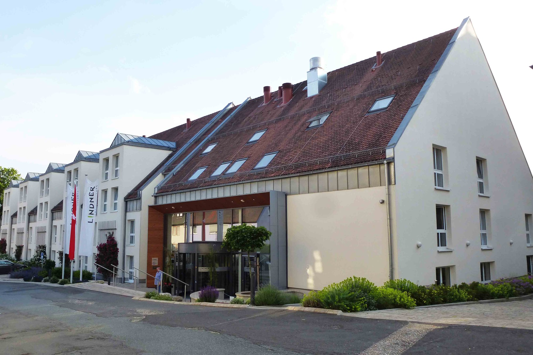 Ankunft im Hotel Lindner, Schloss Reichmannsdorf in Schlüsselfeld