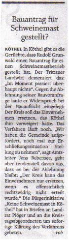 Stormarner Tageblatt 12.04.2011