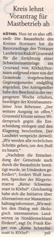 Stormarner Tageblatt 27.10.10
