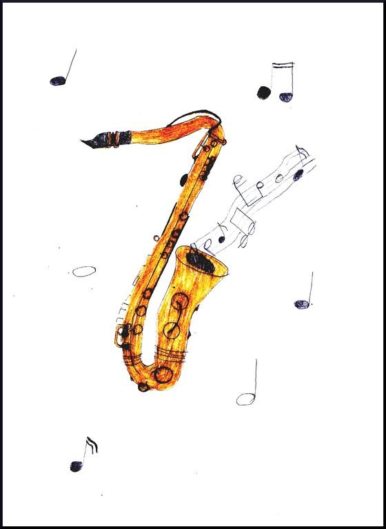 Saxophon, Maren, 9 Jahre