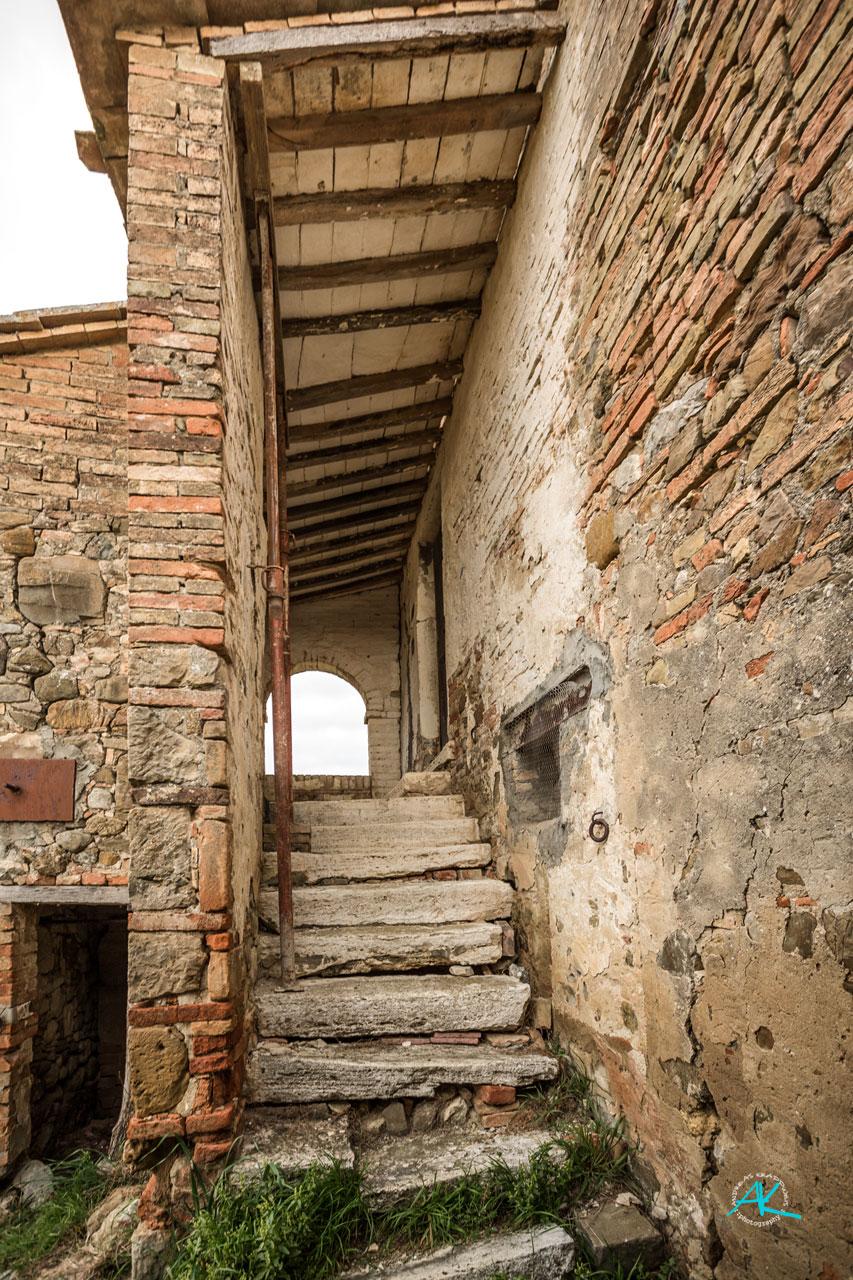Der alte Aufgang ins Obergeschoss