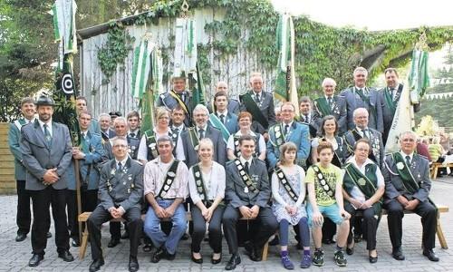 Die neuen Majestäten des Schützenvereins Westerhamm nach der Proklamation. Foto: Jäger