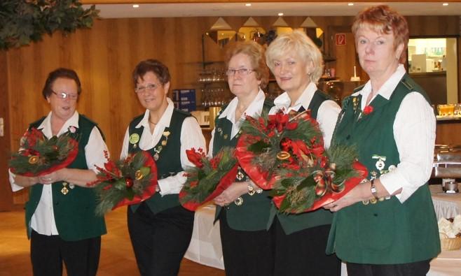 Ehrung der Gründungsmitglieder anlässlich des 40jährigen Damenjubiläum 2011.