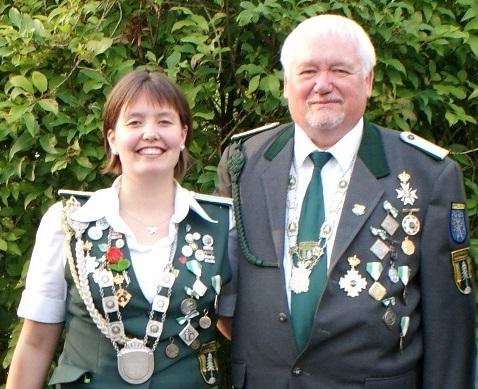 Wingster Kaiserpaar: Verena Vagts (SV Zollbaum) und Heiner Hebbe (SV Westerhamm)