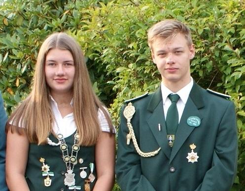Jungschützenkaiserpaar Lynn Glyschewski (SV Westerhamm) und Tim Hottenbacher (SV Dobrock)
