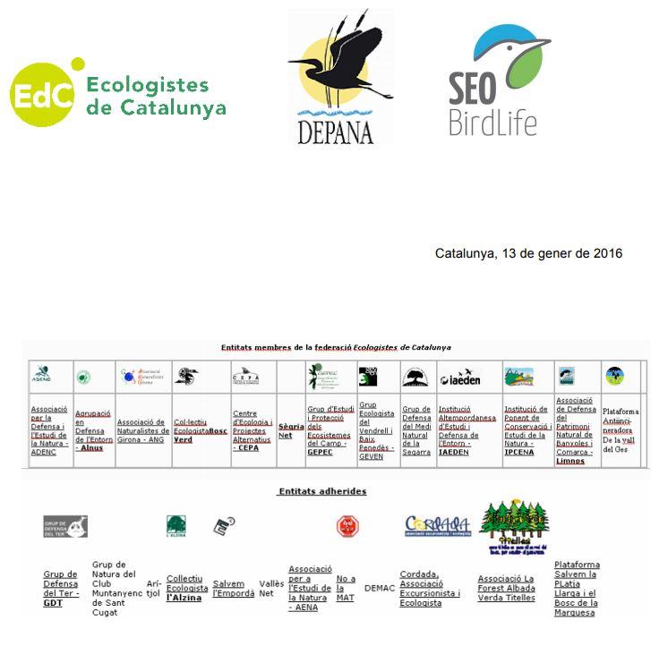 El moviment ecologista exigeix una conselleria de Medi Ambient en el Govern de la Generalitat
