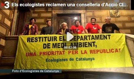 La Federació Ecologistes de Catalunya (EdC), demanen una conselleria de Medi Ambient