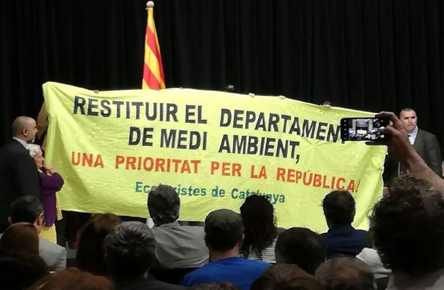 COMUNICAT DE PREMSA: Restituir el Departament de Medi Ambient per al Futur de Catalunya