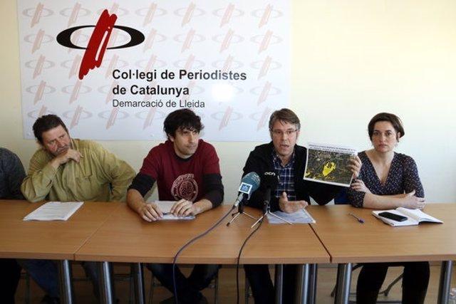 Front comú d'Ajuntament, veïns i entitats ecologistes per exigir al Govern que aturi el projecte de la pedrera Malacara d'Estarà