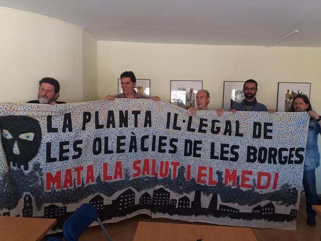 Ipcena denunciarà l'ajuntament de les Borges per no publicar l'estudi que revela emissions contaminants a general d'olis