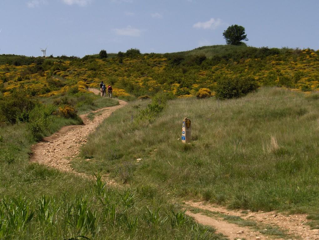Aufstieg zum Alto del Perdón