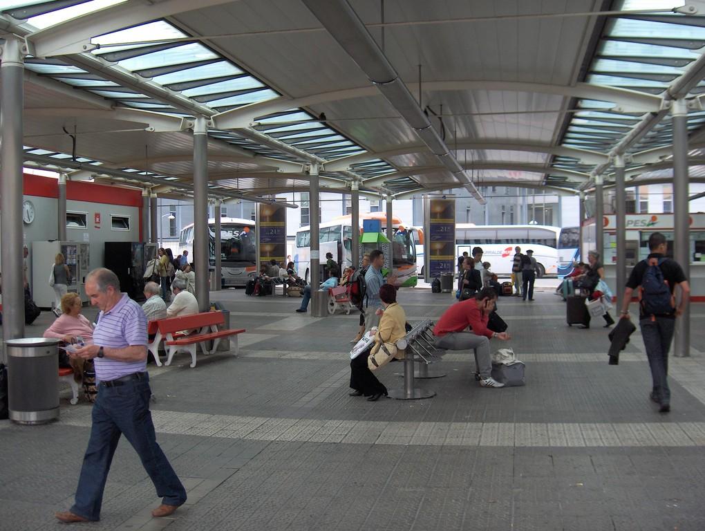 Am Busbahnhof von Bilbao