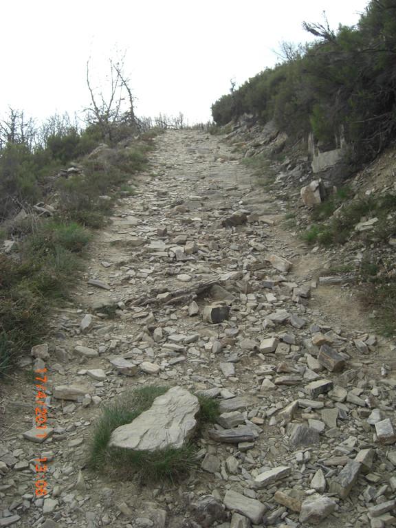 Steinige Aufstiege