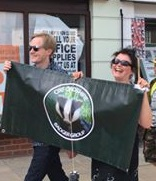 Marching with the Badger Army