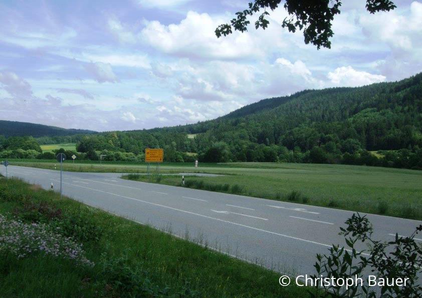 Blick von der Staatsstraße