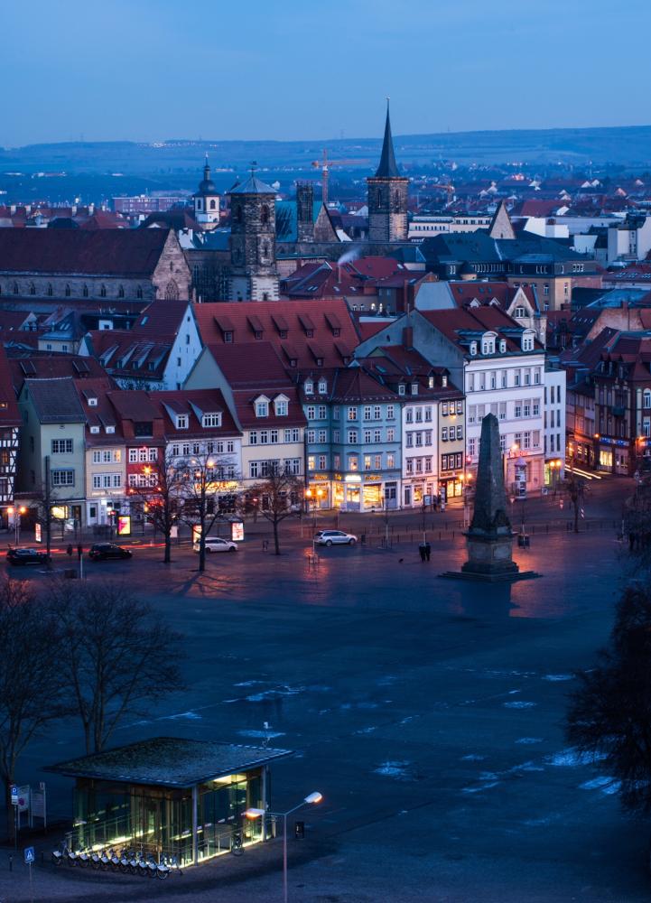 Blaue Stunde in Erfurt by picPond
