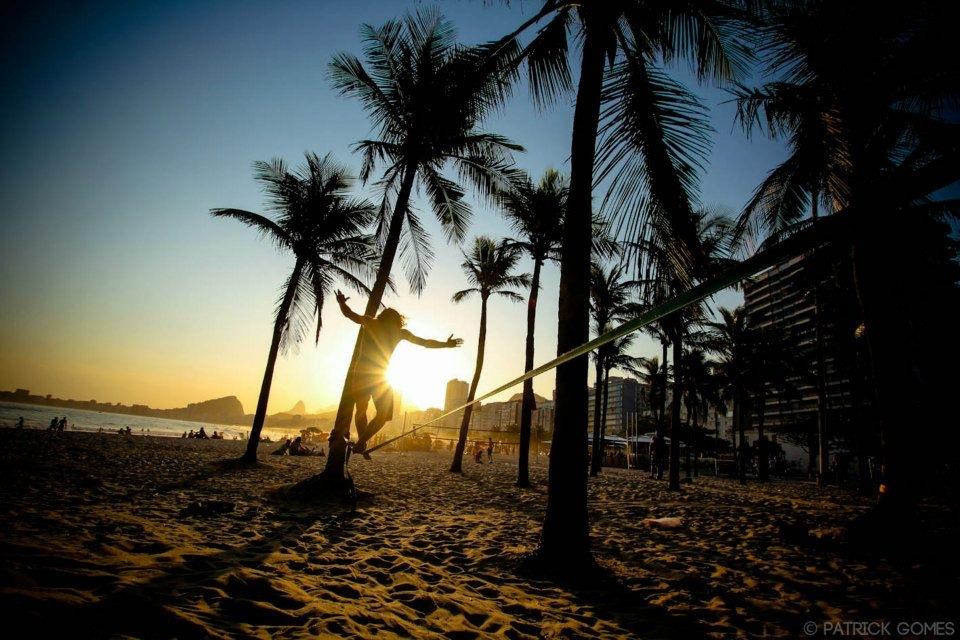 Strand mit Sonnenuntergang in Leme