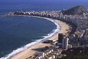 Blick von Leme auf Copacabana