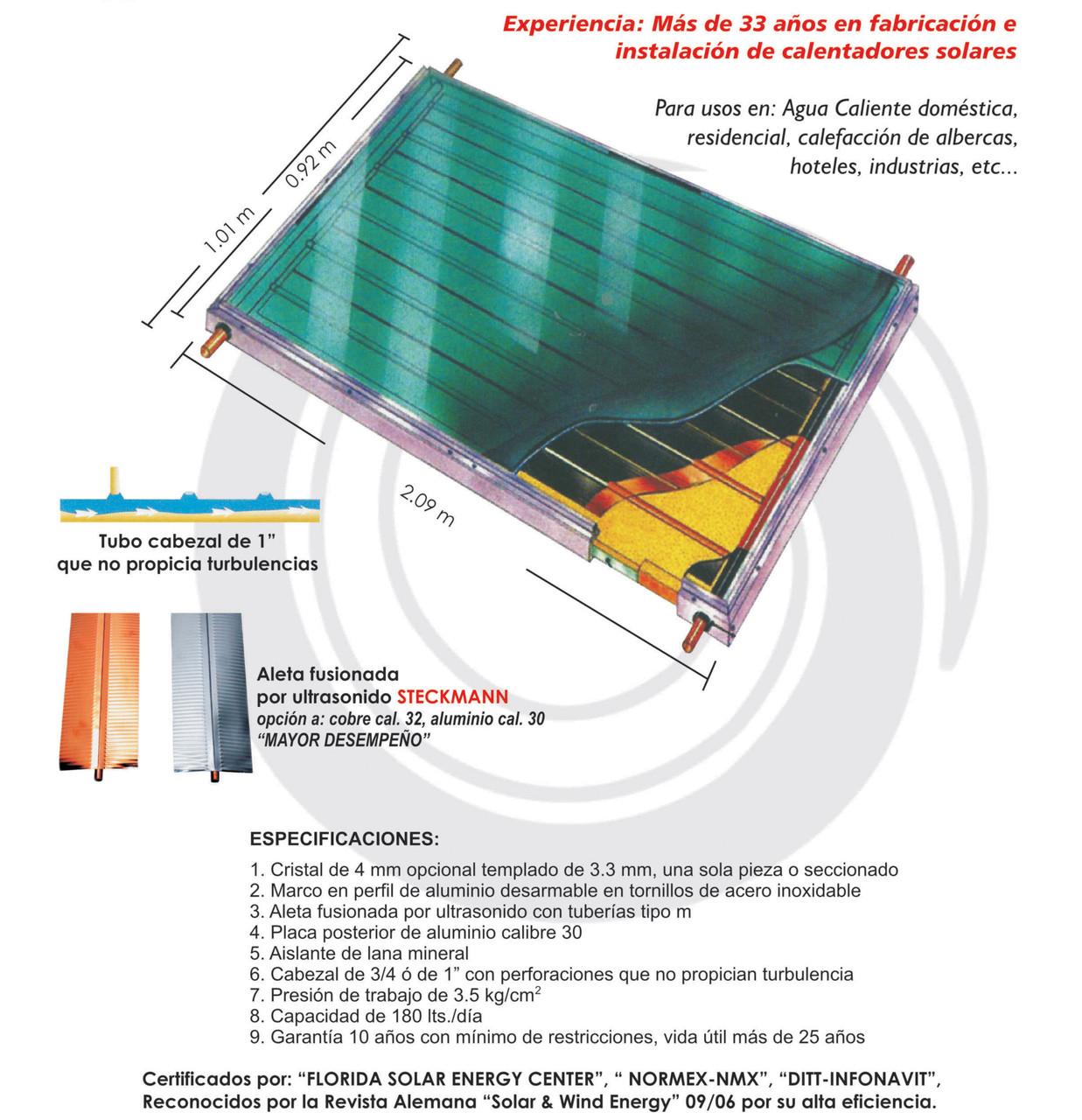 panel para calentador solar