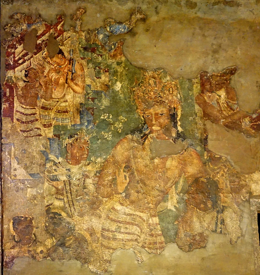 The Composition And Perspective Of Ajanta Cave Painting