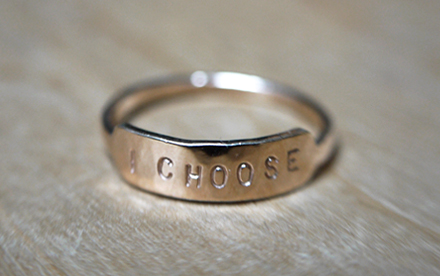 Bague AFFIRMATION - I choose -