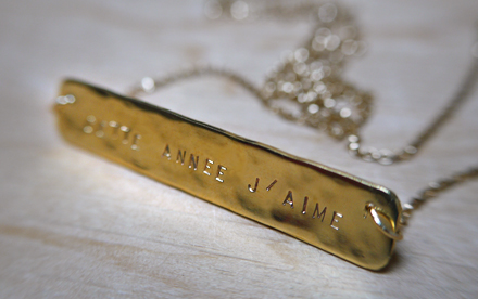 Collier RESOLUTION - j'aime -