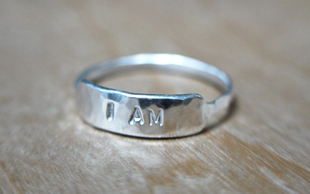 "Bague AFFIRMATION ""I am"""