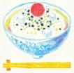 水彩風(お茶漬けイラスト・食べ物)